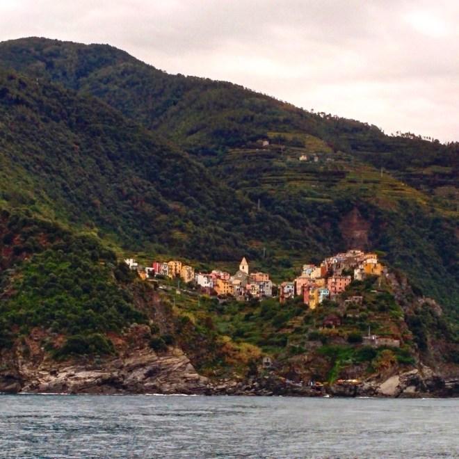 Corniglia vista do barco