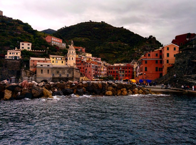 Vista de Vernazza do barco