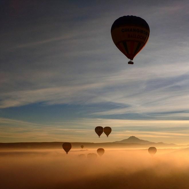 Balão capadócia amanhecer