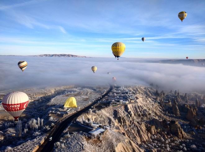 balão capadócia inverno
