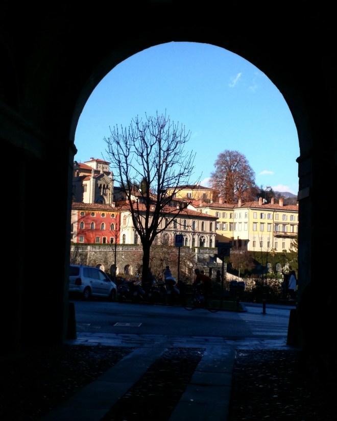 Bergamo vista para a colina