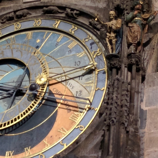 Relógio astronômico praga detalhe