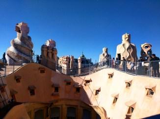 Telhado Casa Mila Barcelona