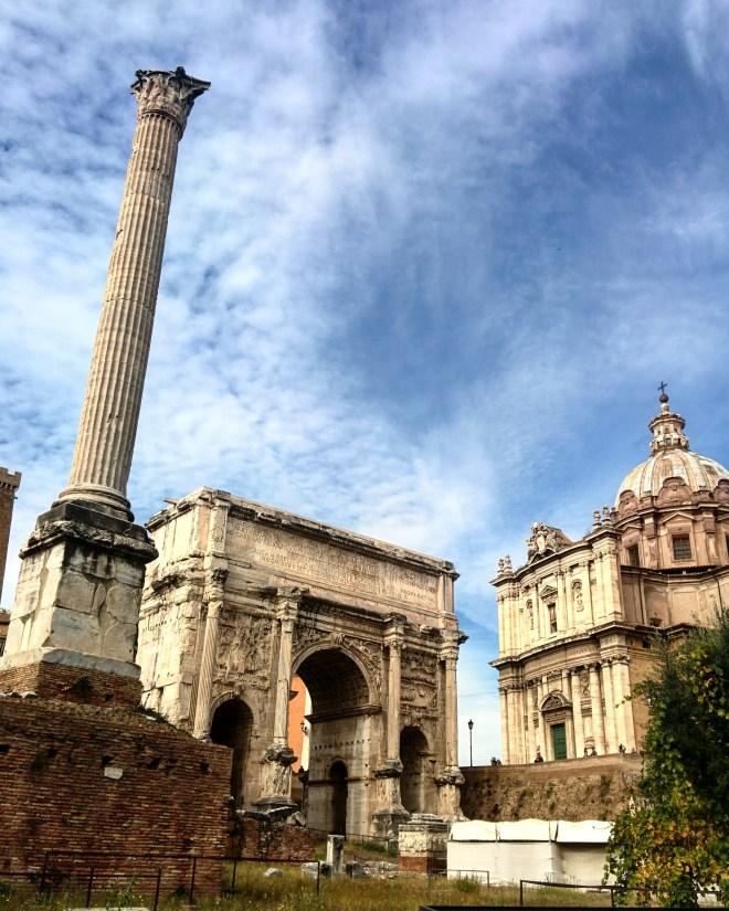 Coluna de Foca, Arco de Setimo Severeo e Carcere Mamertino