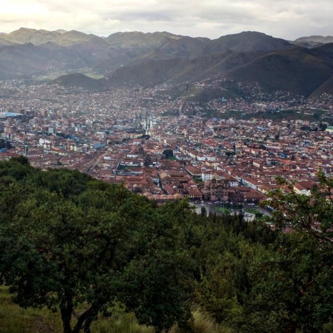 Sacsayhuamán vista de Cusco