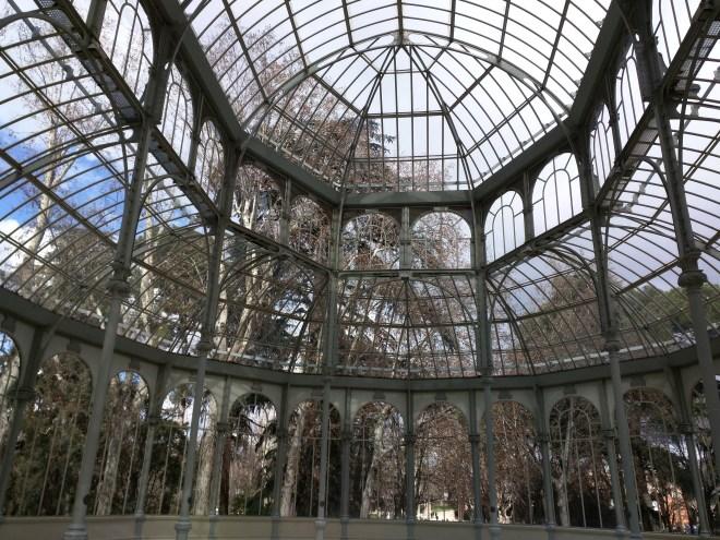 Buen Retiro palacio de cristal interior