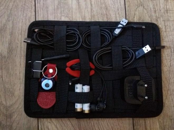Gridit organizador para viagens cabos