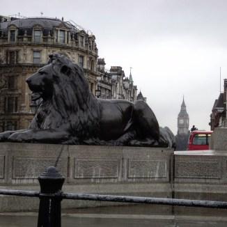 Trafalgar Square Londres leões