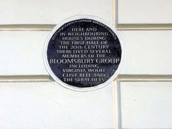 blue plaque bloomsbury group