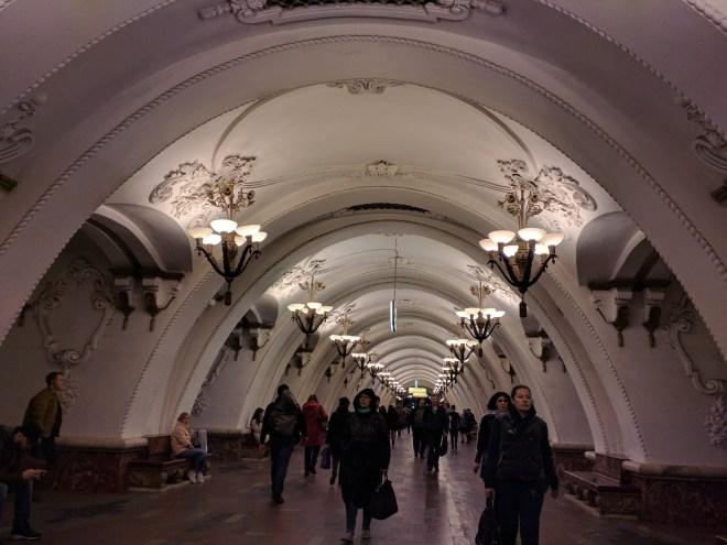Estação metro moscou arbatskaia