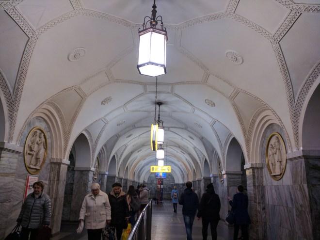 Estação metro moscou Park kultury