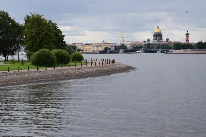 Petersburgo Russia vista da fortaleza de Pedro e Paulo