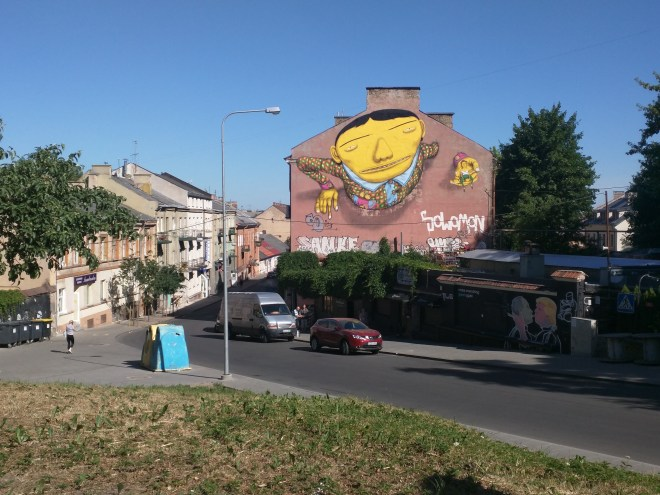Vilnius Lituania painel osgemeos