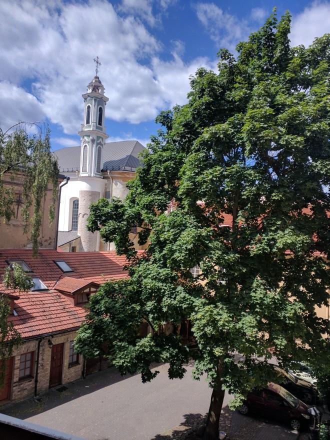 Vilnius Lituania pátio em aurus vartu