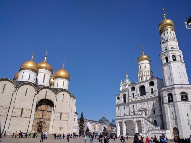 Kremlin Moscou Catedral da Dormição e Torre de Ivan, o Grande