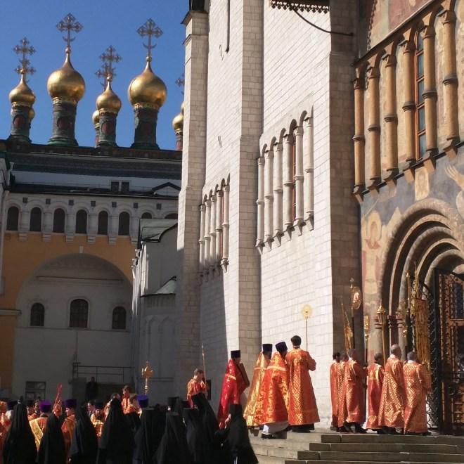 Missa de pascoa no kremlin russia