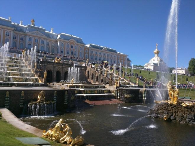 Petergof Russia Petersburgo fonte de sansão