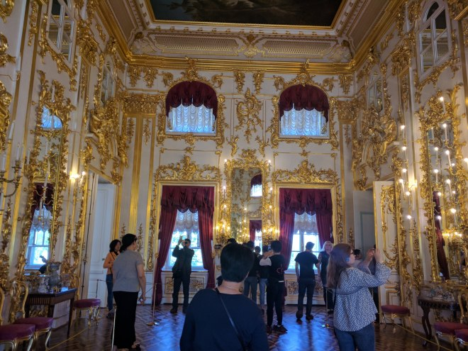 Petergof Russia Petersburgo sala espelhos detalhes