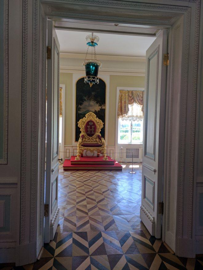 Petergof Russia Petersburgo trono
