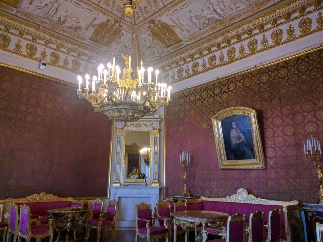 Petersburgo palacio Iussupov sala de recepções vermelha