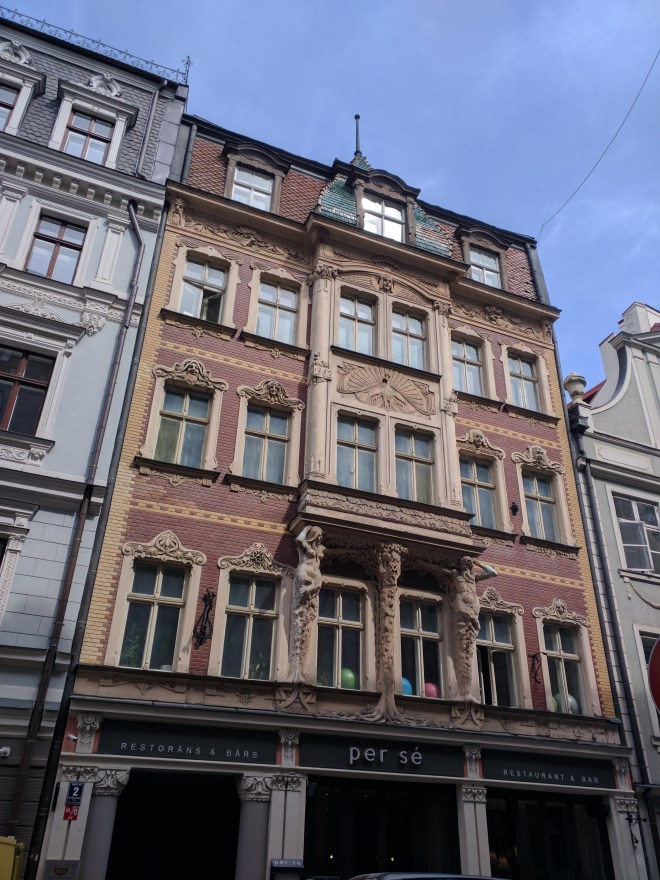Riga Letonia art nouveau no centro historico