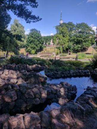 Riga Letonia parques ao redor do centro historico 2