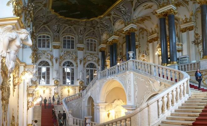 Petersburgo Hermitage panorama escadarias rastrelli 2