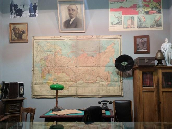 Russia Petersburgo Museu do cerco Leningrado esquina vermelha