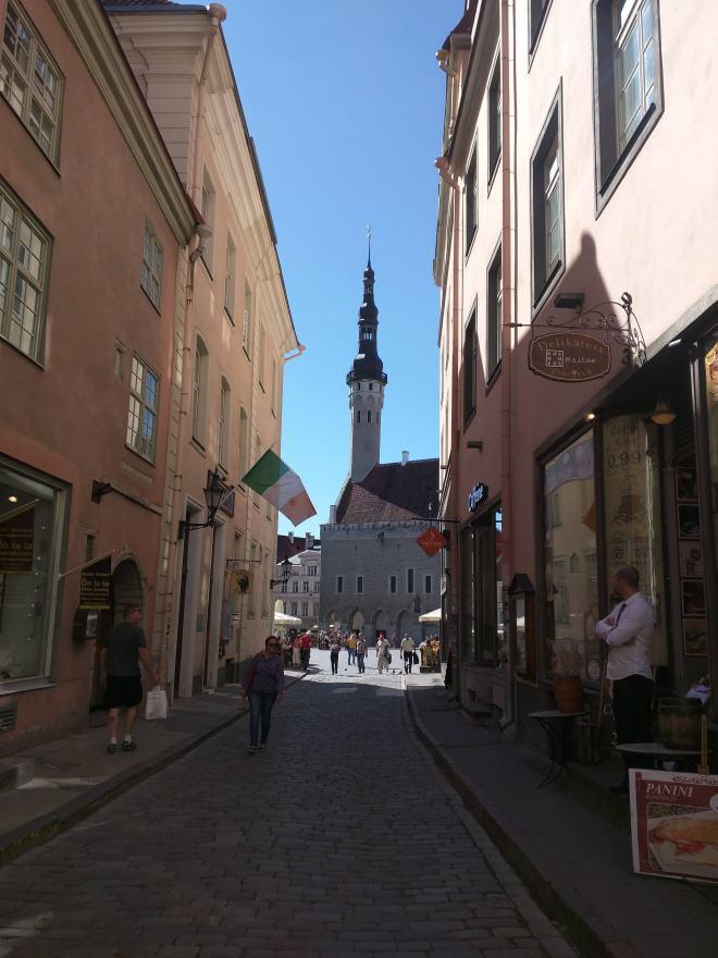 Tallinn centro historico vista para a praça do mercado