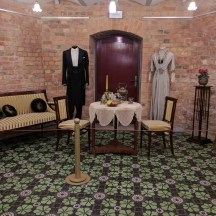 Letonia Riga Museu Art Nouveau roupas