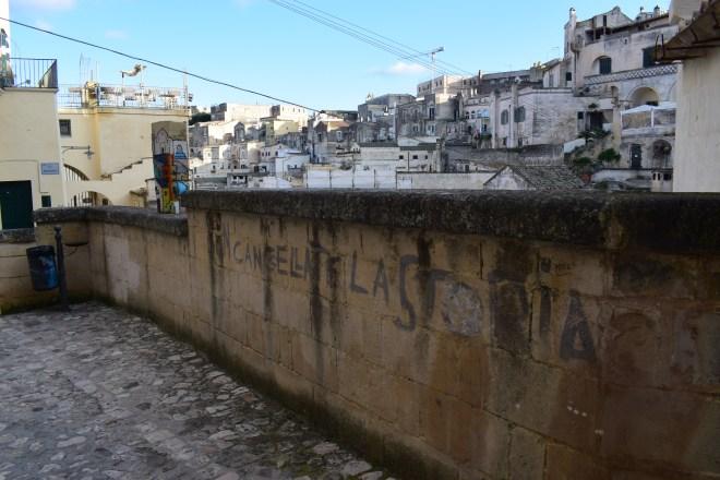 Matera italia grafite não apaguem a historia