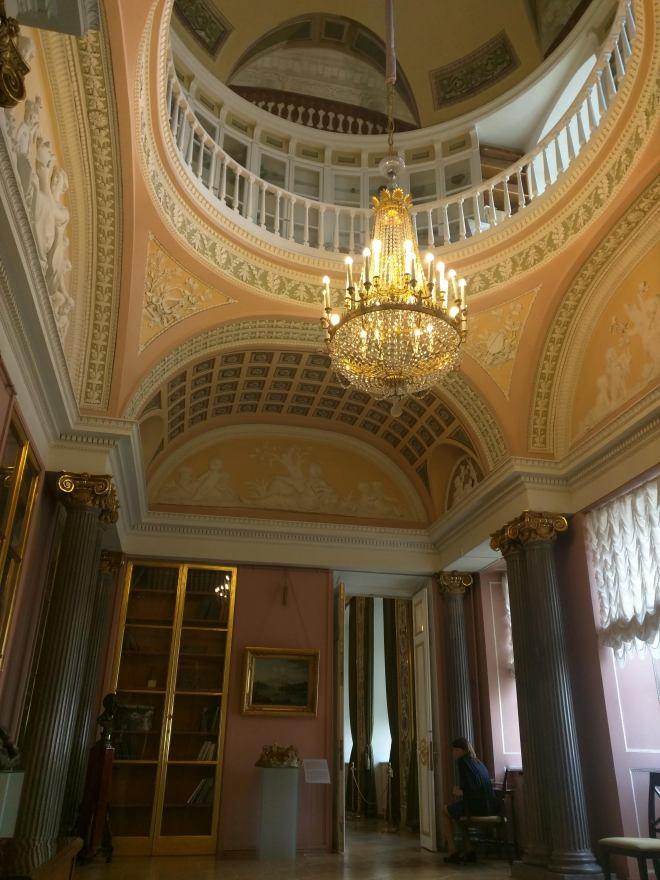 Petersburgo museu russo palacio stroganov gabinete mineralogia