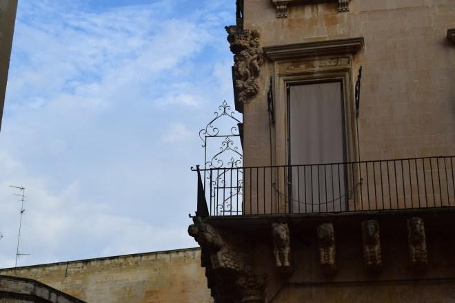 Puglia Lecce detalhes fachadas
