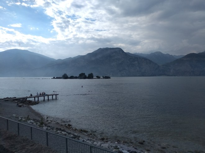Lago de Garda Malcesine vista do onibus