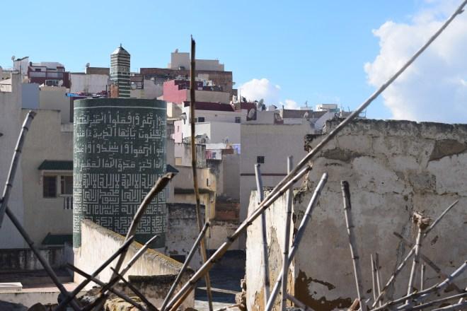 Moulay Idriss cidade sagrada marrocos mesquita minarete redondo