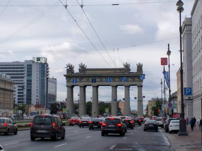 Petersburgo bairro sovietico moskovski porta Moscou