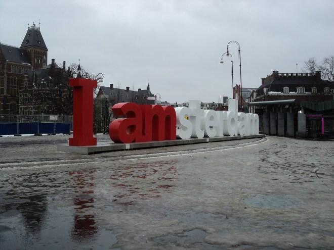 Amsterdam praça dos museus placa I amsterdam