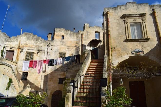 Matera sul itália casas com varal