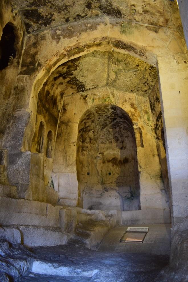 Matera sul itália igreja em ruínas
