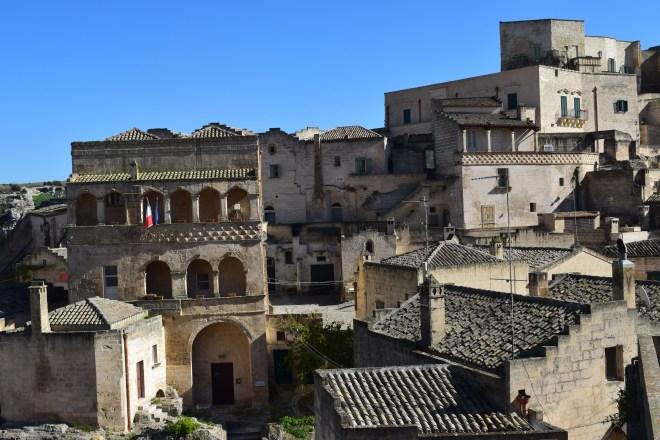 Matera sul itália palacio nos sassi