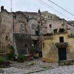 Matera sul itália torre ruínas