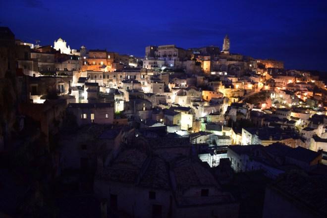 Matera sul itália vista de noite