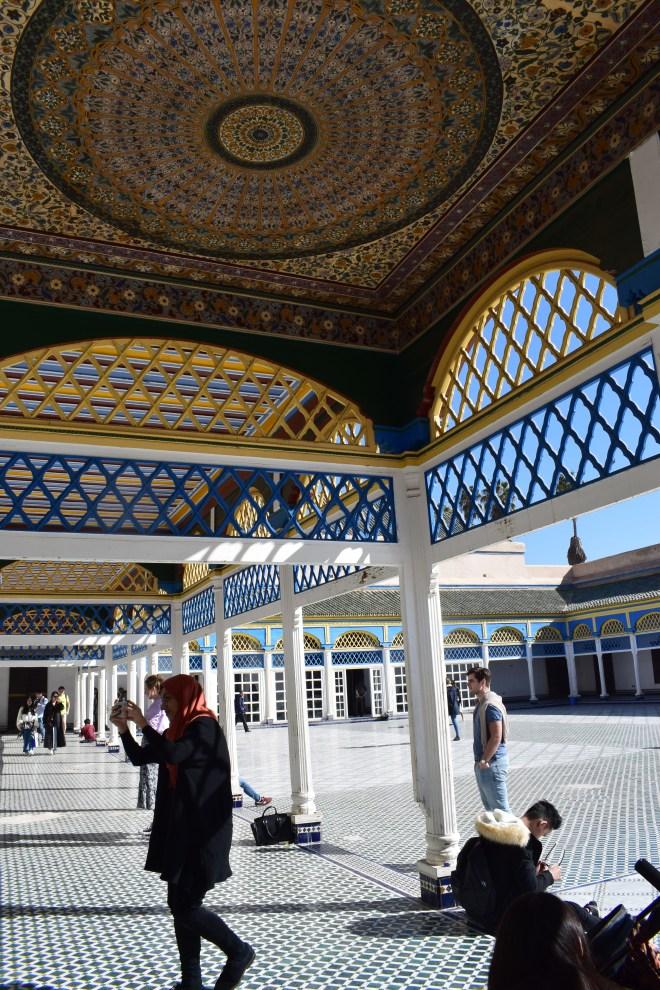 Marrakech palacio bahia teto patio 3