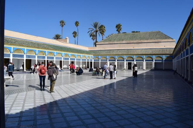Marrakech palacio bahia teto patio