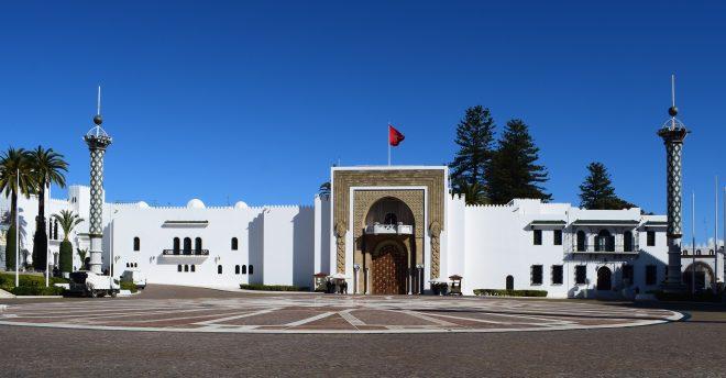 Marrocos Tetouan palacio real com torres art nouveau