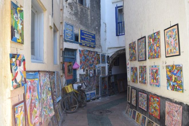 Marrocos Essaouira arte na rua