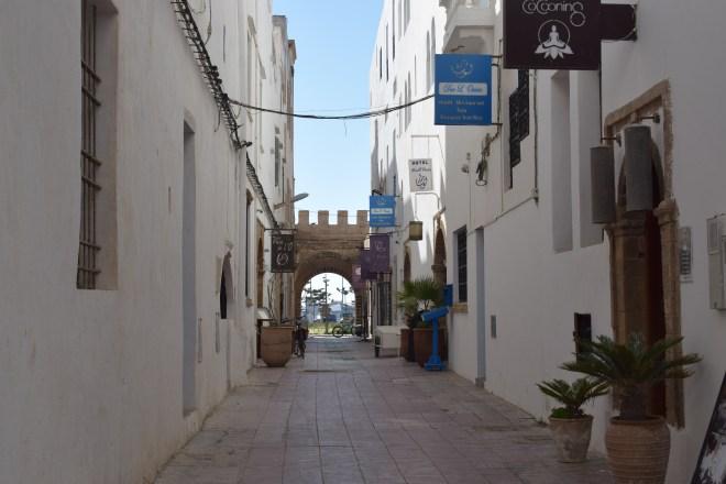 Marrocos Essaouira ruas brancas cidade