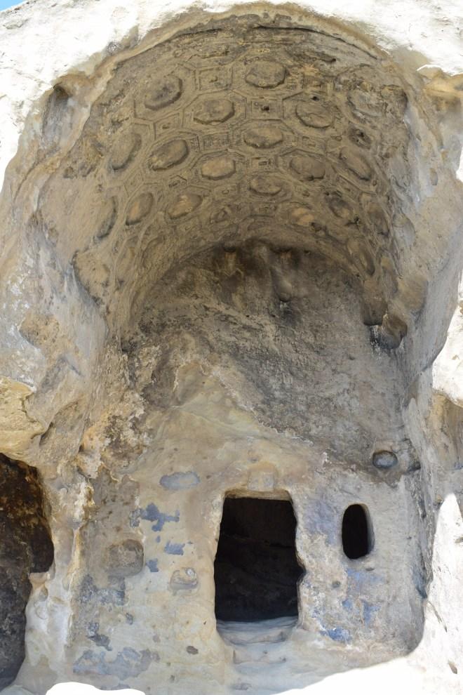 Uplistsikhe cidade cavernas Georgia templo de Makvliani