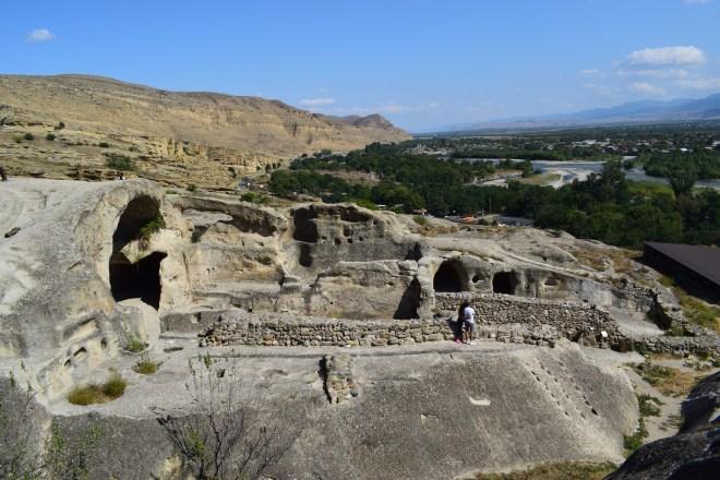 Uplistsikhe cidade cavernas Georgia vista de cima 2