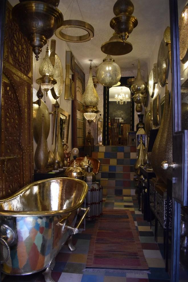 Marrakech medina souqs lojas artesanato